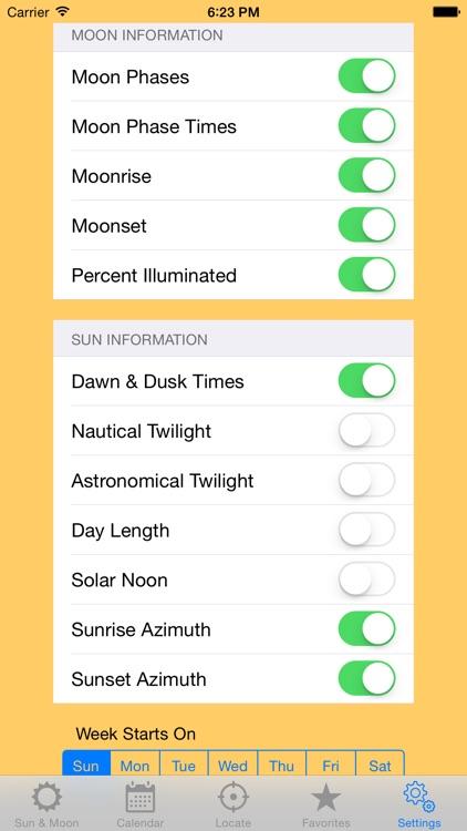Sun Calendar screenshot-4