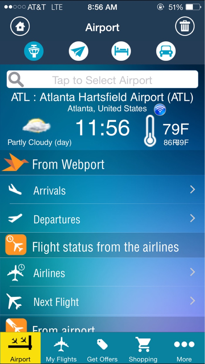 Atlanta Airport (ATL) Flight Tracker ATL Radar Screenshot
