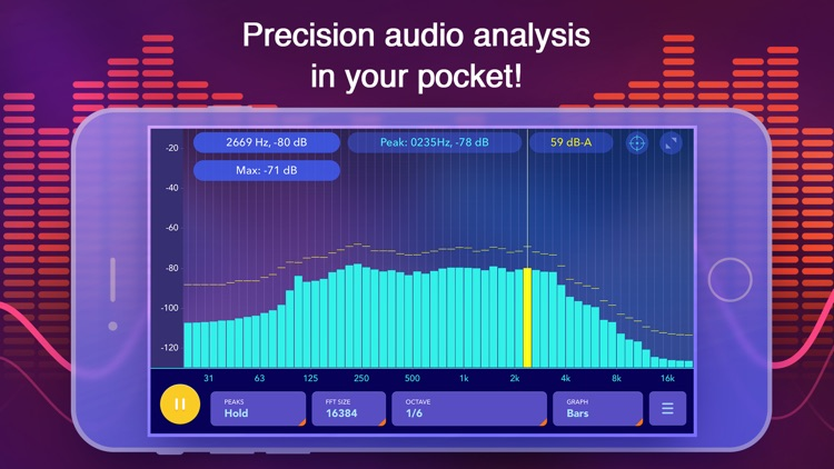 Octave Band Real Time Frequency Analyzer and Sound Level Meter screenshot-4