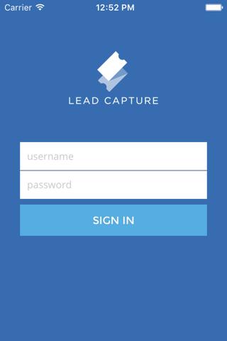 ShowClix Lead Capture - náhled