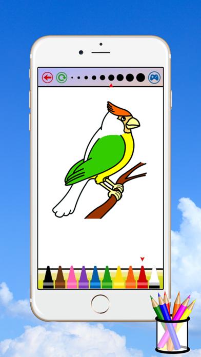 子供のための鳥のぬりえのスクリーンショット1