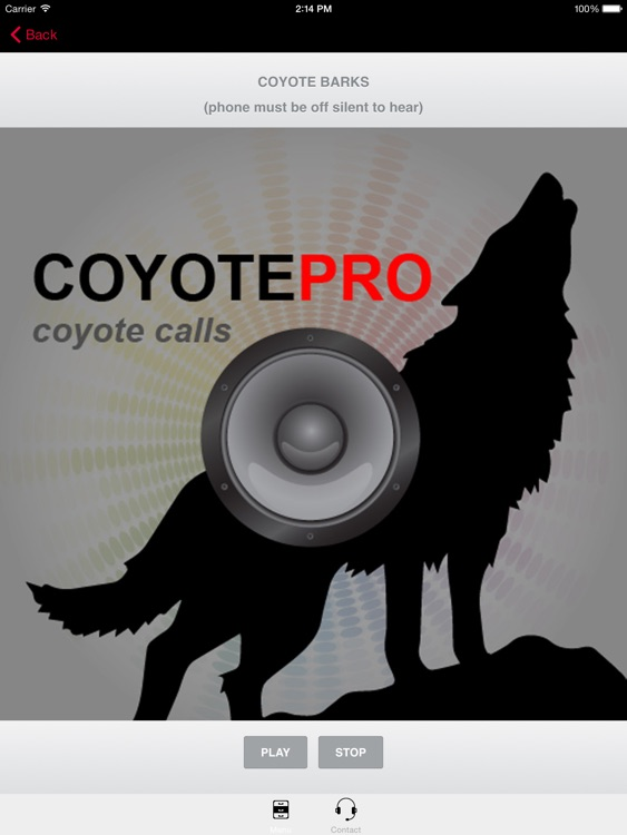 REAL Coyote Hunting Calls - Coyote Calls & Coyote Sounds for Hunting (ad free) BLUETOOTH COMPATIBLE screenshot-0
