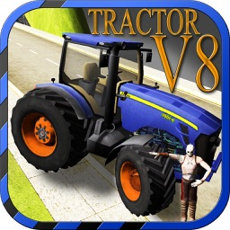 V8 reckless Tractor driving simulator – Drive your hot rod muscle machine on top speed
