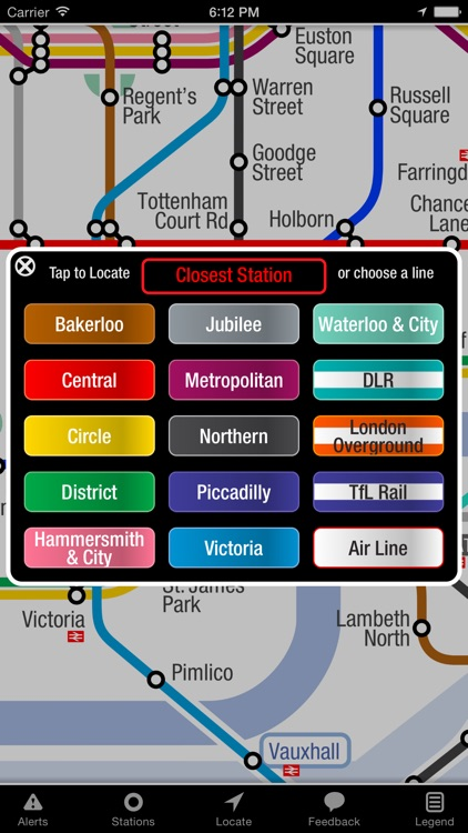 KickMap London Tube