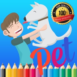 Cute Pet Paint and Coloring Book Learning Skill - Fun Games Free For Kids