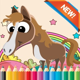 My Pony Coloring Book for children age 1-10: Games free for Learn to use finger while coloring with each coloring pages