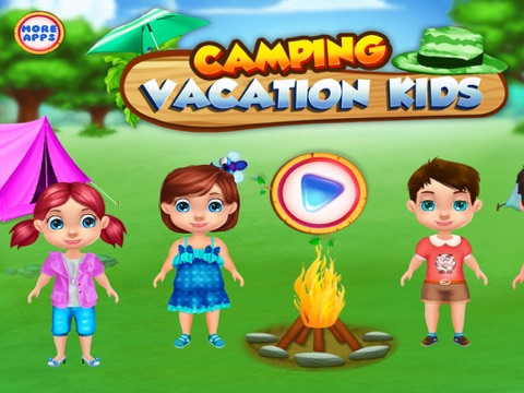 Camping Vacation Kids : summer camp games and camp activities in