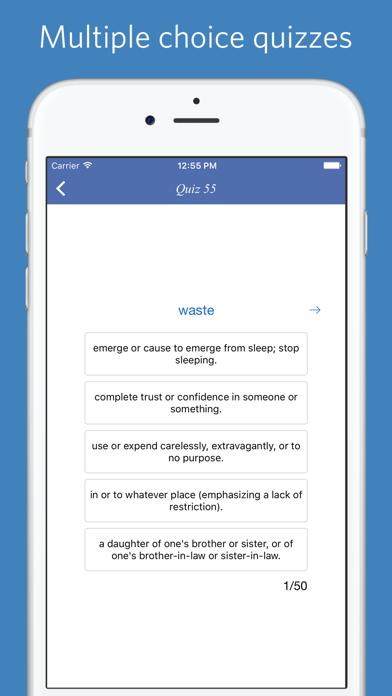 Mastering Oxford 3000 word list - quiz, flashcard and match gameのおすすめ画像5