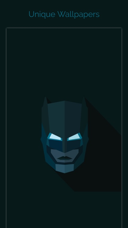 Unique Wallpapers for Batman Free HD with Emoji Stickers, Filters and Fan Art