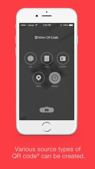 "Official QR Code reader ""Q"" Screenshot on iOS"
