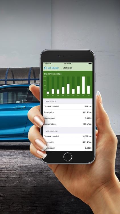 fuel tracker gas mileage log by leonid zhavoronkov