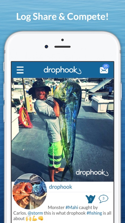 drophook Fishing App - Log, Share, And Compete!