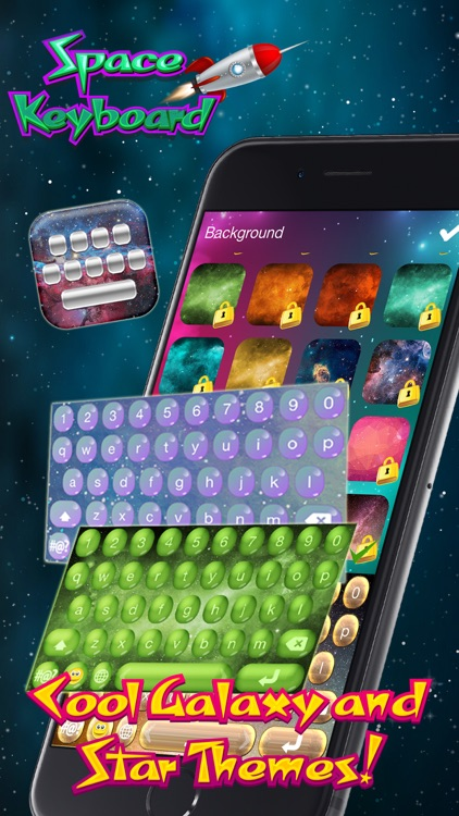 Space Keyboard Free – Custom Galaxy and Star Themes with Cool Fonts for iPhone
