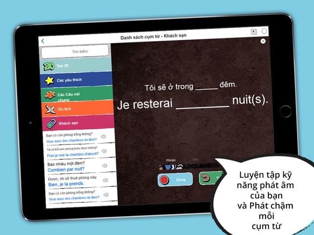 Từ điển Pháp - Sách cụm từ ngoại tuyến miễn phí kèm thẻ từ và giọng nói bản ngữ