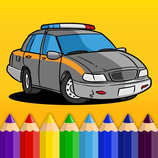 Kids & Play Cars, Trucks, Emergency & Construction Vehicles Coloring Book - Free Game