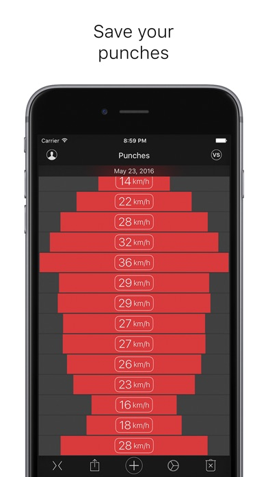 Punches - measuring power and speed screenshot four