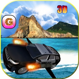 Floating Police Car Flying Cars – Futuristic Flying Cop Airborne flight Simulator FREE game