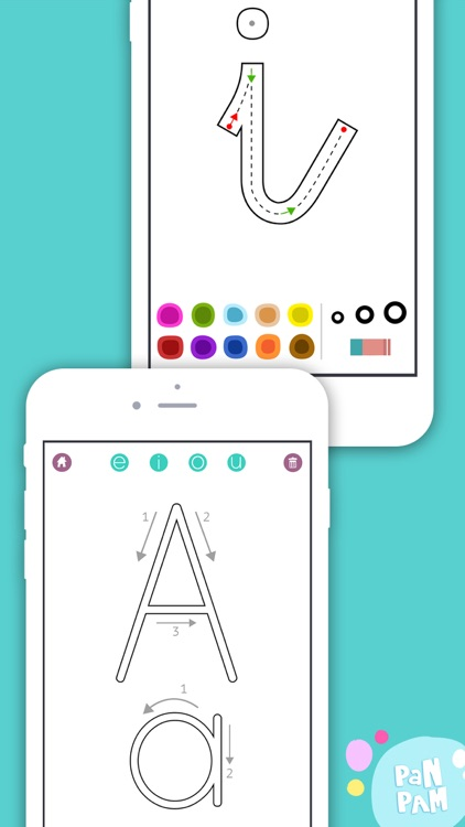 Learn to read and write the vowels in Spanish - Preschool learning games - iPhone screenshot-3