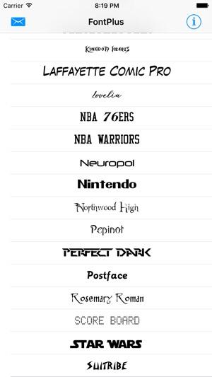 FontPlus - Install new fonts