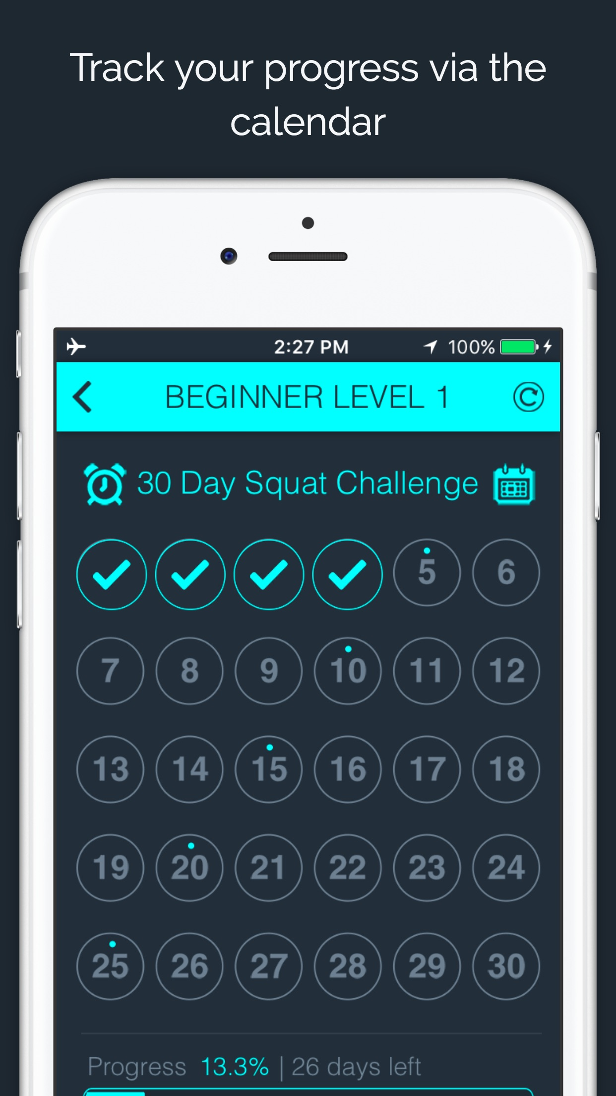 30 Day Squat Challenge by 30 Day Fit Body Screenshot