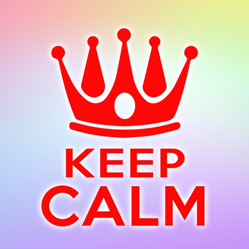 Keep Calm And Carry On Wallpapers & Posters Creator with Funny Icons & Logos