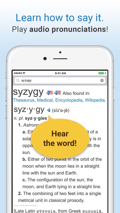 Screenshot for Dictionary. in United States App Store