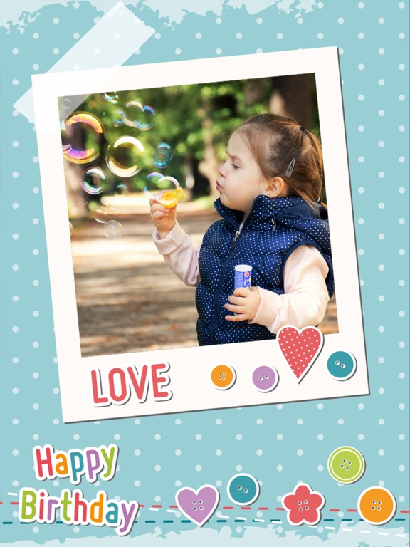 Screenshot 1 For Happy Birthday Photo Frames Create Greeting Cards Collages And