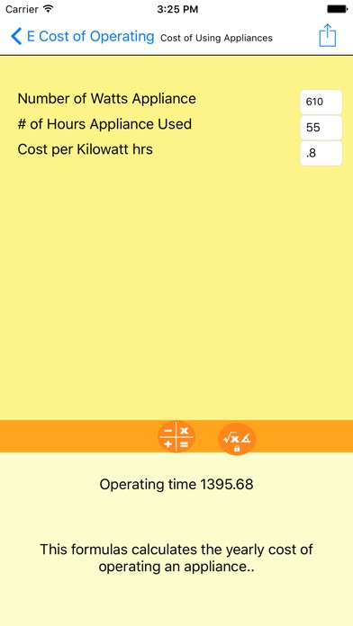 Electrical Formulator screenshot four