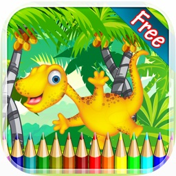 Dinosaur Coloring Book 3 - Drawing and Painting Colorful for kids games free