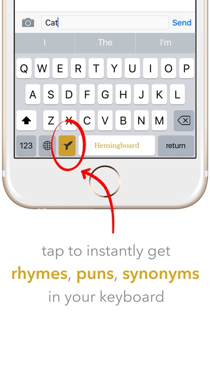 Hemingboard: Synonyms,Rhymes,Puns in Your Keyboard screenshot-0