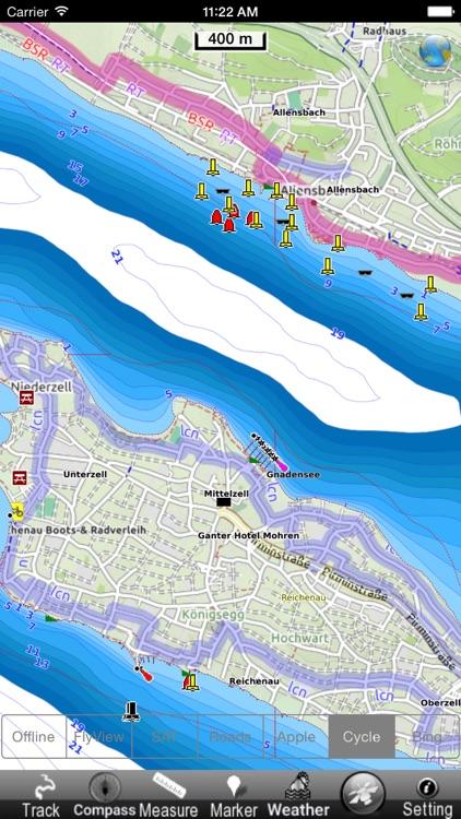 Lake : Constance GPS Map Navigator screenshot-3