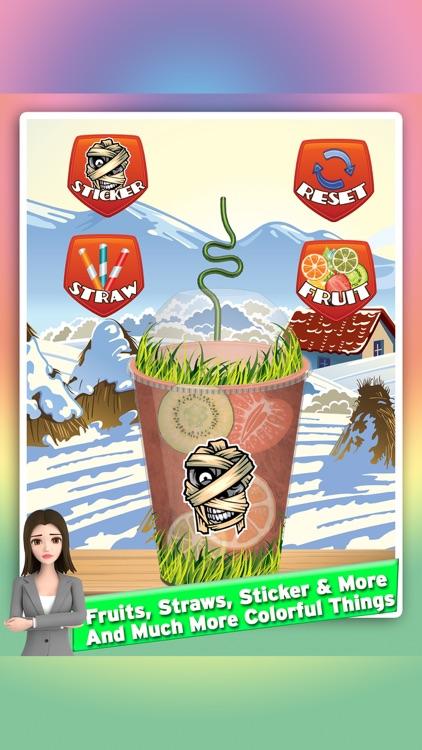 Frozen icee slushy maker: Make cold desserts! frozen drinks with magical decorations in crazy slush factory screenshot-3