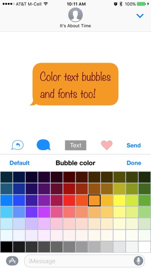 Color Text Bubbles on iMessage on the App Store