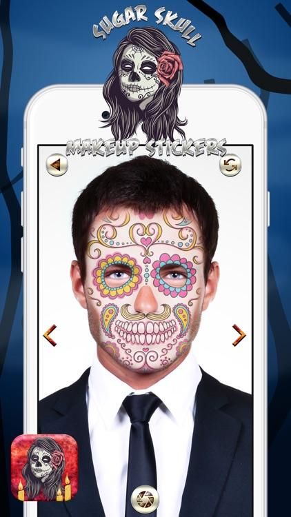 Sugar Skull Makeup Stickers By Milan Mladenovic