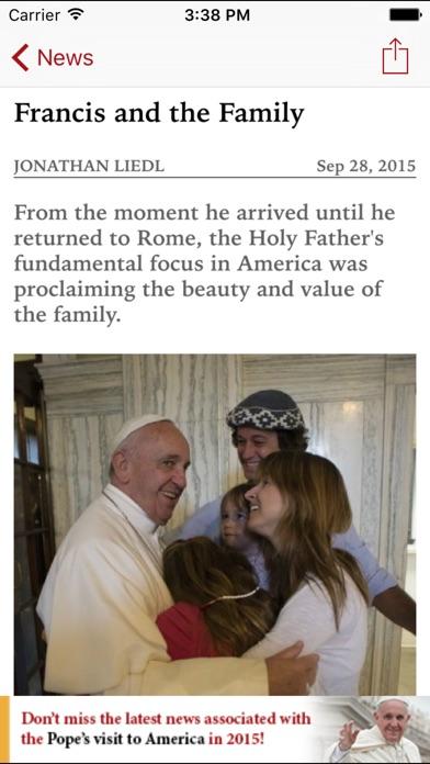 National Catholic Register review screenshots