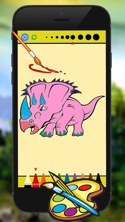 Dino Coloring Book - Dinosaur Drawing for Kid Games screenshot-4