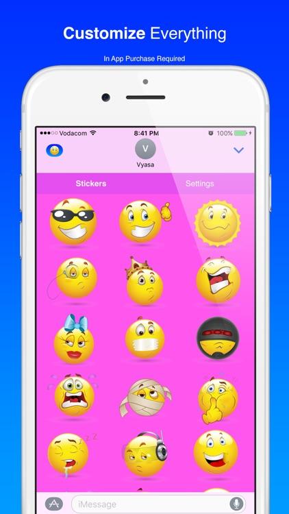 Cool Smiley Sticker Emoji for iMessage screenshot-4