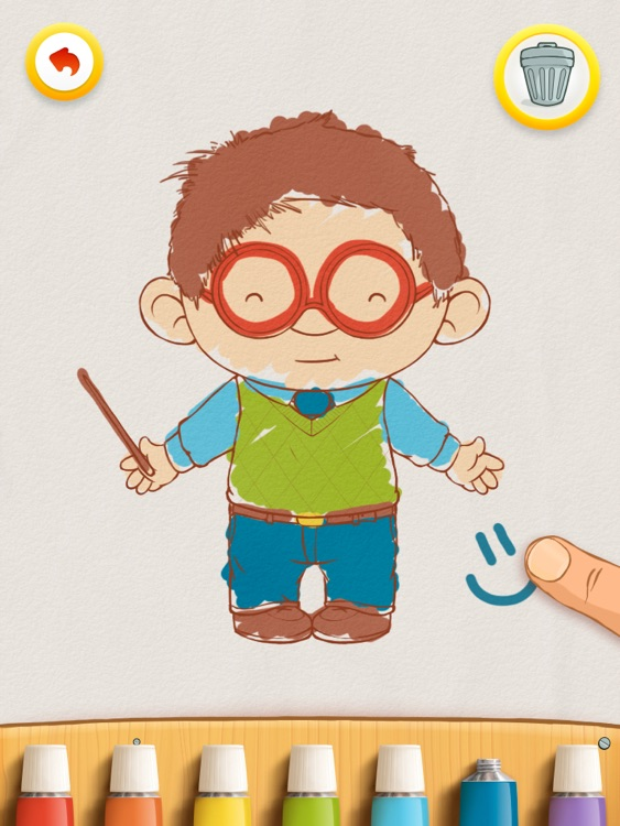 Dress Up : Professions - Occupations puzzle game & Drawing activities for preschool children and babies by Play Toddlers (Free Version for iPad) screenshot-3