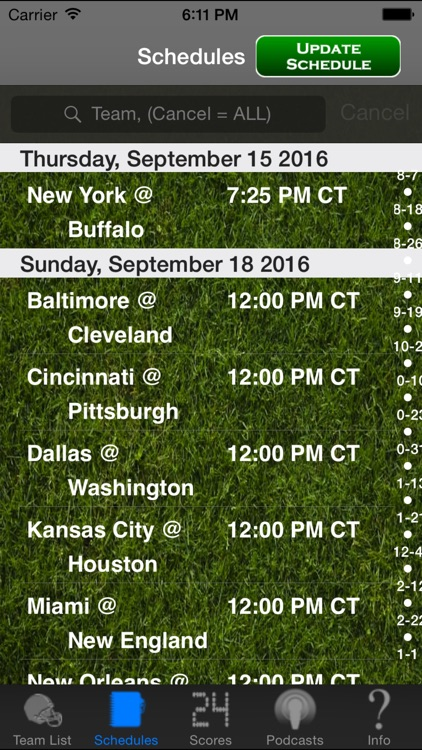 Pro Football Radio & Live Scores + Highlights screenshot-4