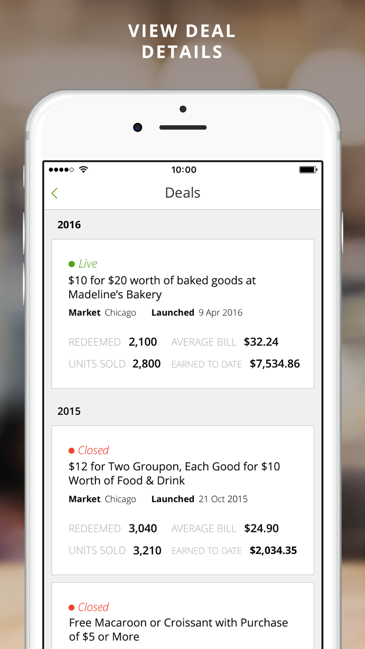 Groupon Merchant Screenshot