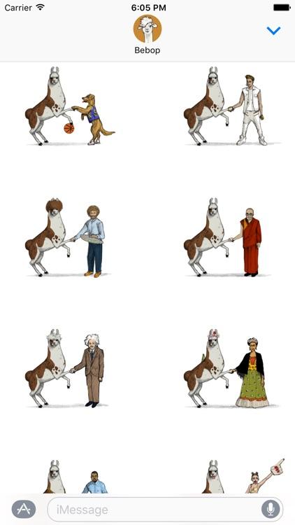 Llama Diplomat - Animated llama stickers