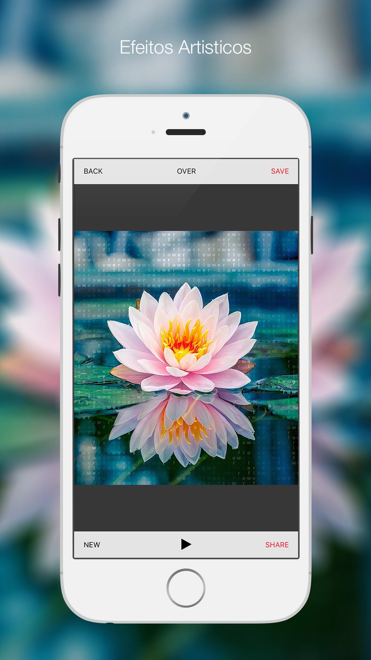 Screenshot do app Bitpoem - Filtros e Efeitos