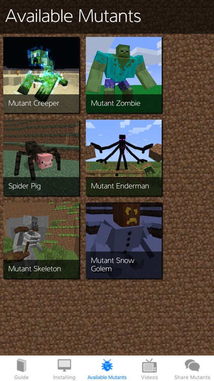 Mutant Creatures Mod Guide - for Minecraft PC!