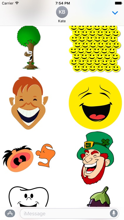 Laughing Stickers