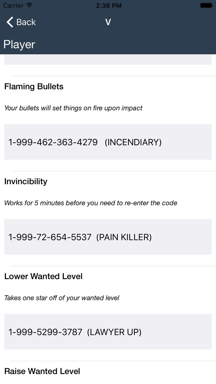 Cheat codes for GTA 5 Screenshot