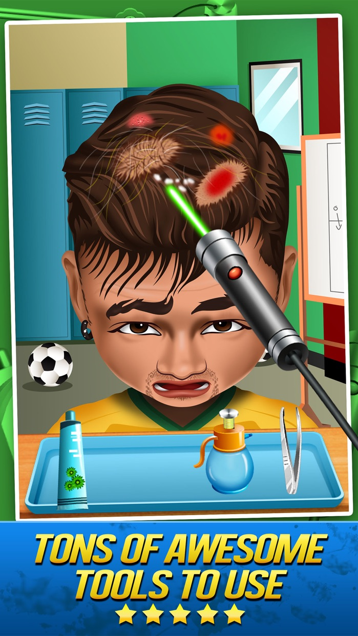 Soccer Doctor Surgery Salon - Kid Games Free Screenshot
