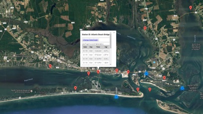 North Carolina Tide Chart Screenshot