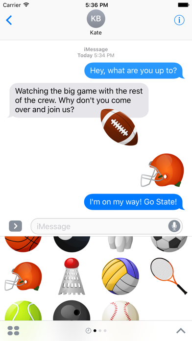 Sports Stickers for iMessage screenshot one
