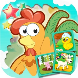 Scratch farm animals & pairs game for kids