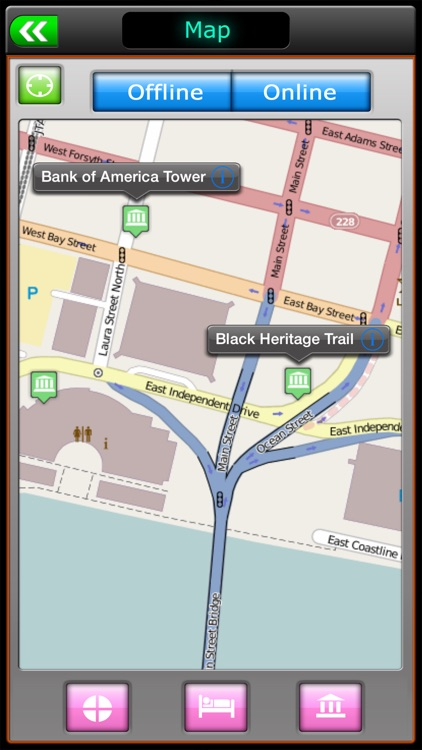 Jacksonville Offline Map Travel Explorer